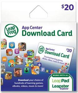 LeapFrog App Center Download Card