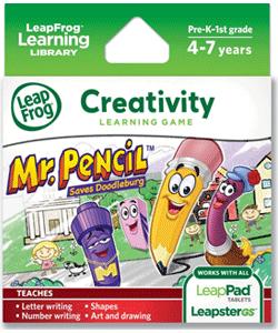LeapFrog Mr. Pencil Saves Doodleburg Learning Game