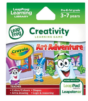 LeapFrog Crayola Art Adventure Explorer Learning Game