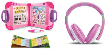 LeapFrog Headphones Pink and LeapStart Learning System Pink Bundle