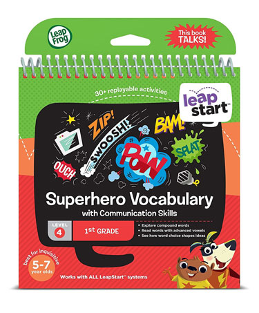LeapStart 1st Grade Activity Book: Superhero Vocabulary