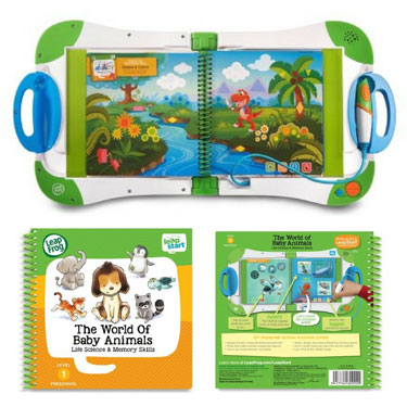 LeapStart Kids On-The-Go Learning System with Activity Book Bundle