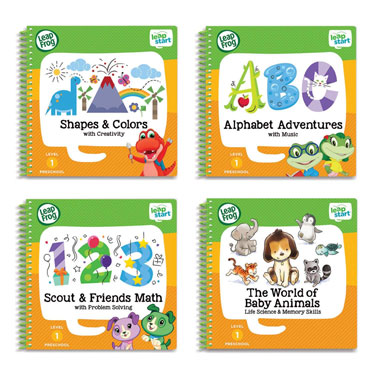 LeapStart Preschool 4-in-1 Activity Book Bundle